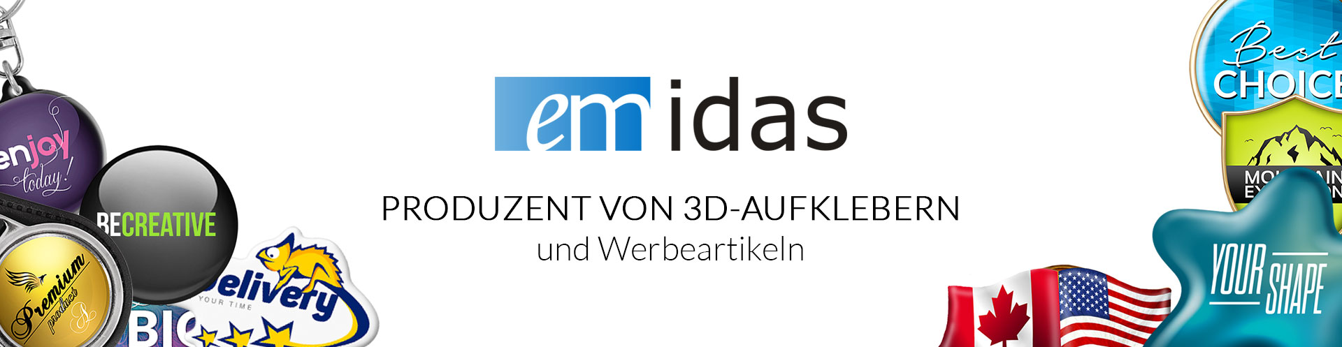 EMIDAS | Manufacturer of 3D stickers and promotional materials